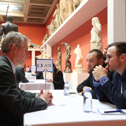 Speed meeting sessions in Pushkin museum
